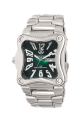 Dark Green Dial  Polished Stainless Steel Bracelet