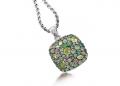 Multiple Green Gemstone Pendant