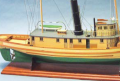 Historic wooden tugboat