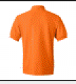Athletic Orange Cotton Pique Sport Shirt