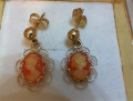 14KYG 1.3G Cameo Earrings