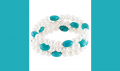 Freshwater Cultured Pearl & Genuine Turquoise Stretch Bracelet