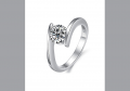 Fashion Rhinestone Ladies' Platinum-Plated Rings