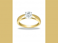 1269 14k Yellow Gold Classic Solitaire Engagement Ring