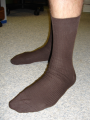 99% Cotton Dress Sock with elastic
