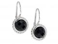 Black Agate Lever Back Earrings
