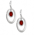 Red Agate Lever Back Earrings