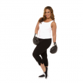 Plus Size Single Color Capri w/White ABA Logo