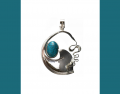 Sterling Silver and Turquois Pendant