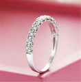 Sterling Silver Round Crystal Ring