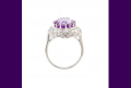 Amethyst Silver Ladies' Wedding Ring