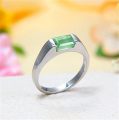 Sterling Silver Colombian Emerald Ring