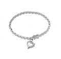 Sterling Silver, Diamond Accent Fashion Bracelet