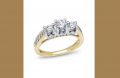 Encore, 14K Two-Tone Diamond Engagement Ring