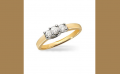 14K Yellow Gold and Platinum Diamond Engagement Ring