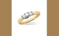 14K Yellow Gold and Platinum Diamond Engagement Ring