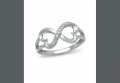 Forever Heart , 10K White Gold and Diamond Accent Ring