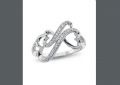 Forever Heart , Silver and Diamond Accent Ring