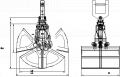 Hydraulic Clamshell Grabs