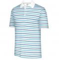 Men's ClimaLite White-Based Stripe Polo Shirt