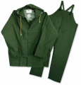 3 Piece Green Pvc Rain Suits