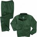 Green Elastic Waist Rain Suit