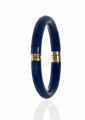 Snakeskin Navy Bangle Bracelet