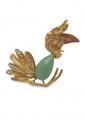 Gold Tone Jungle Bird Pin