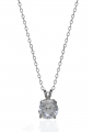 White Gold Solitaire Pendant Necklaces