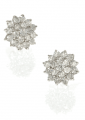 Sterling Silver Snowflake Stud Earrings