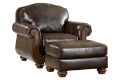 Barcelona - Antique armchair with ottoman