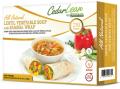 All Natural Lentil Vegetable Soup and SamosaWrap