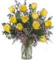 One-Dozen Yellow Love Roses