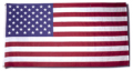 20 x 38 ft. Nylon American Flag Sewn Stripes Appliqued Stars Canvas Roped Heading and Thimbles