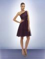 European Satin one shoulder cocktail dress