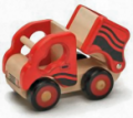 Wooden Little Red Dump Truck Toy