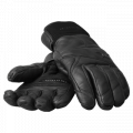 Indigo Leather Gloves Black