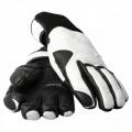 Indigo Leather Gloves White