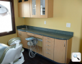Doctor and assistant side cabinets