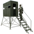 Double 4'x8' w/ 5' Tower, Full Door & Stairs