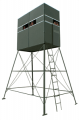 Double Deer Blind w/ 10' Tower & Sliding Door