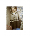 Greasewool Hooded Laceup Sweater