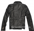 Fashion Straight Short PU Leather Jacket