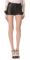 Leather Bow Shorts