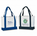 Two-tone Cotton Canvas Tote Bag