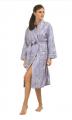 Lavender Fleur de Lis Luxe Robe
