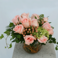 A Peach Rose Painting Bouquet