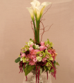 A Topiary Decadence Floral Arrangement
