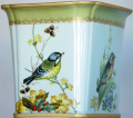 Secret Garden Bird Design Sq. Basin 746-9369-WT 10