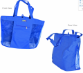 Deluxe Mesh Tote with Zipper Closure & Side Pocket